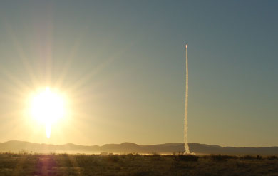 Liftoff of The Pioneer Flight