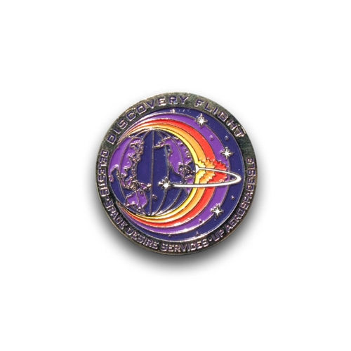 Discovery Flight Mission Pin